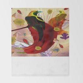 The Bird of Paradise  Throw Blanket