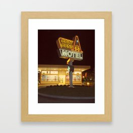 Cozy Cone Motel Framed Art Print