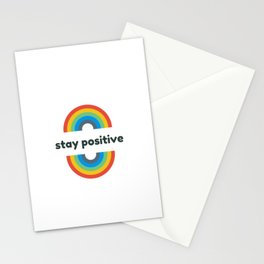 STAY POSITIVE RAINBOW Stationery Cards