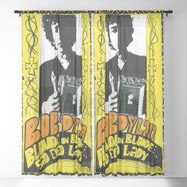 Vintage 1967 Bob Dylan Blonde on Blonde Concert Gig Poster Sheer Curtain