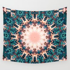 Abstract Fractal Sun Wall Tapestry