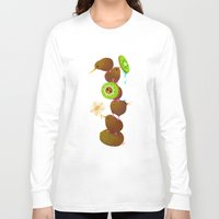 kiwi Long Sleeve T-shirts featuring Kiwi by DanBee Kim