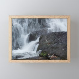 Amicalola Falls with Stone Framed Mini Art Print