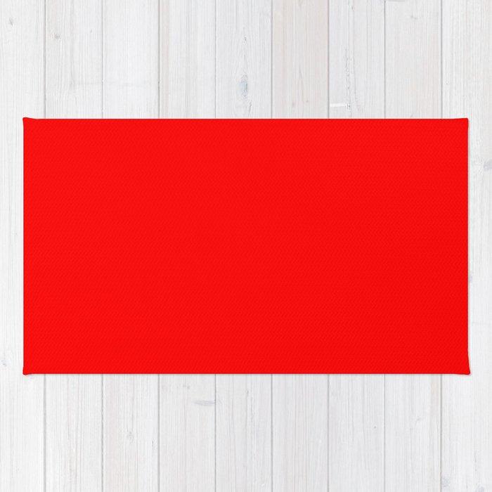 Red Rojo Rouge Rot красный Rug