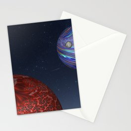 Earth From Mars Stationery Cards