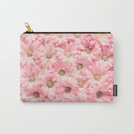 Lovely Pink Daisies Carry-All Pouch