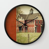 american beauty Wall Clocks featuring Americana by Farmhouse Chic