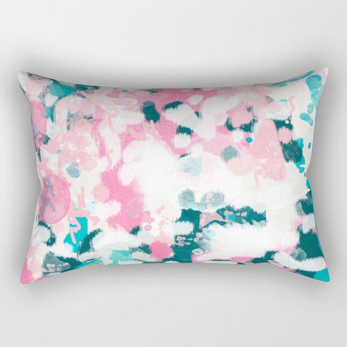 Everitt - abstract minimal painting home decor modern bright artistic decor canvas Rectangular Pillow