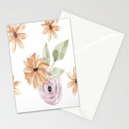 Vintage Floral Patterns Watercolor Stationery Cards