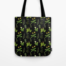 Lovely Weeds By Night Tote Bag