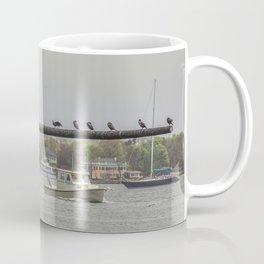 Cormorants on the Greasy Pole Coffee Mug