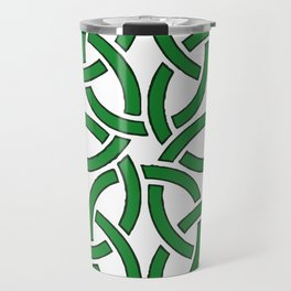 Shamrock Celtic Art Knotwork Design Travel Mug
