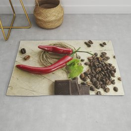 #Rustic #coffee #beans #kitchen #image Rug