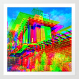 Psychedelic Architecture in Beachwood Canyon Art Print