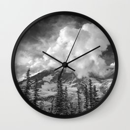 Rainier Obscured Wall Clock