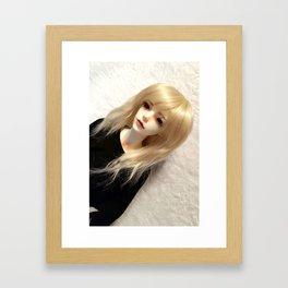Blond Vampire Boy ball-jointed doll Framed Art Print