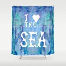 I Love the Sea 2 Shower Curtain