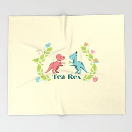 Tea Rex Throw Blanket