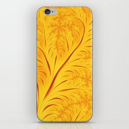 Fall Leaves Abstract Autumn Yellow Orange Gold Leaf Pattern iPhone Skin