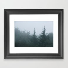 Evergreen Fog Framed Art Print