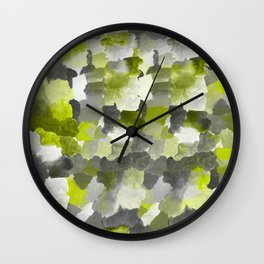 Painterly Gary Green Camouflage Wall Clock