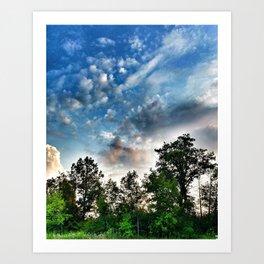Summer skies. Art Print