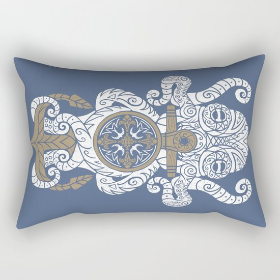 Octopus anchor and compass in tribal style Rectangular Pillow