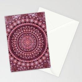 Boho Rosewood Mandala Stationery Cards