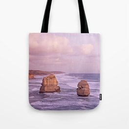 Gog and MaGog At Sunset. 12 Apostles Along The Great Ocean Road. Tote Bag