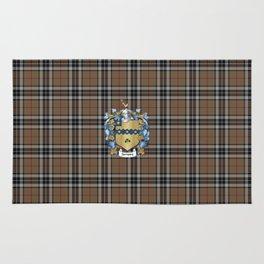 Thompson Crest and Tartan Rug