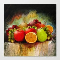 fruits Canvas Prints featuring fruits by ErsanYagiz
