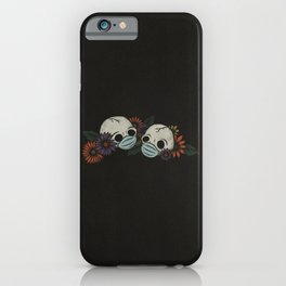 Twin Skeletons In Masks iPhone Case