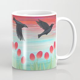 crows, tulips, & snails Coffee Mug