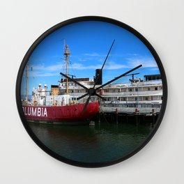 Riverboat Legacy and Fireship Columbia on Columbia River Wall Clock