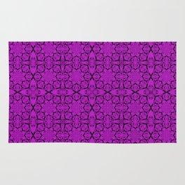 Dazzling Violet Geometric Rug