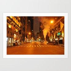 5th Ave 2:00AM Art Print