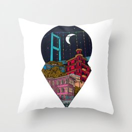 Night carries the lights Throw Pillow