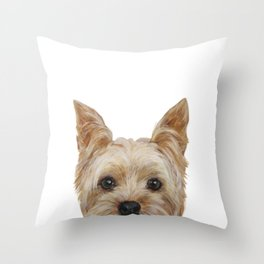Yorkshire Terrier original painting print Throw Pillow