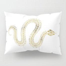 Snake Skeleton – Gold Pillow Sham