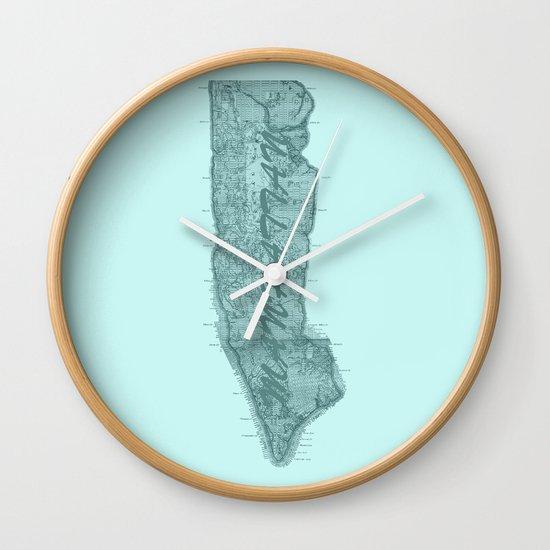 Vintage Manhattan Blue Wall Clock