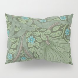 William Morris Art Nouveau Forget Me Not Floral Pillow Sham