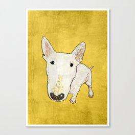English Bull Terrier pop art Canvas Print