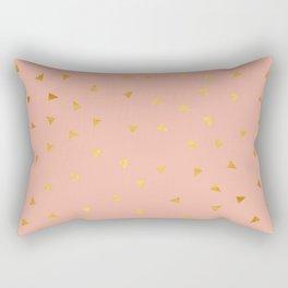 Millennial Pink Gold Pastel Pattern Rectangular Pillow