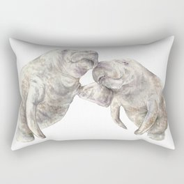 Manatees in love Rectangular Pillow