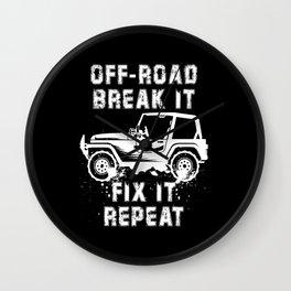 OFF-ROADING: Off Road Break Fix Motif Wall Clock