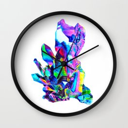 Rainbow Aura Quartz Crystal Wall Clock