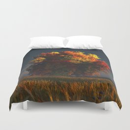 Red and Gold Duvet Cover