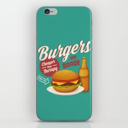 Burgers and Booze iPhone Skin