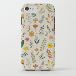 Colorful Plants and Herbs Pattern iPhone Case