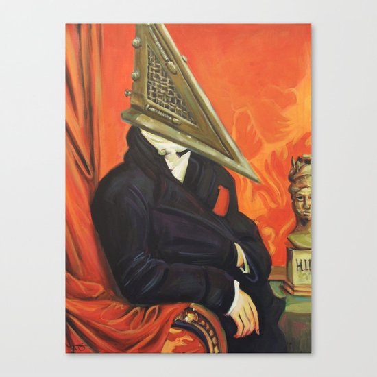 Baron Pyramid Head Canvas Print